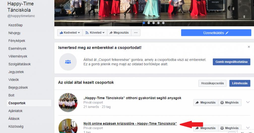 Online táncos torna a Happy-Time-nál
